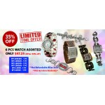 Discount Package: 35% off ( 6 PC ) Assortment Watches - Group 2- PROMO-WATCH-2