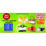 Discount Package: 35% off ( 6 PC ) Assortment PVC Clear Bag - PROMO-PVC6