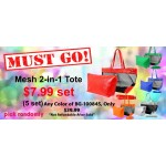 Discount Package: 50% off (5 set) Assortment Mesh 2-in-1 Totes - BG-100845-5
