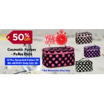 Discount Package: 50% off ( 12 PC =1 DZ) Assortment Cosmetic Purses - Polka Dots - BG-407POT-12