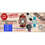 Discount Package: 35% off ( 6 PC ) Assortment Watches - Group 1 - PROMO-WATCH-1