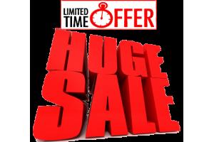 Huge Sale, Limited time offer !