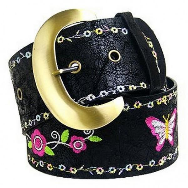 Butterfly Embroidered Belt - BLT-40037