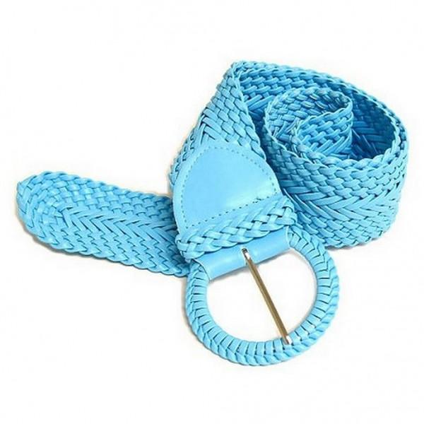 Braided PU Leather Belt - TQ - Size : ML - BLT-BE020TQ-ML
