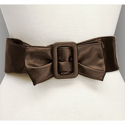Belt - Soft Leather w/ Front Bow - Brown - Size : ML - BLT-BE173BR-ML