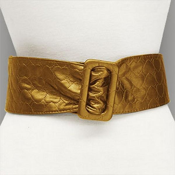 Belt - Soft Leather w/ Front Bow - Bronze - Size : ML - BLT-BE190BZ-ML