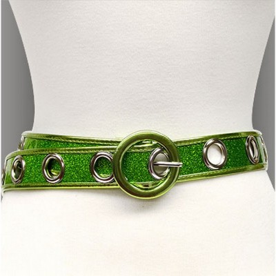 Glittery w/ Grommets - Green - Size : ML - Size : SM - BLT-BE228GN-ML