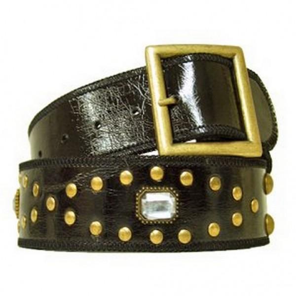 Jeweled Studded Belt - Black - Size : S - BLT-CB17925BK-S