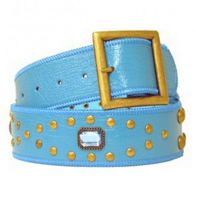 Jeweled Studded Belt - Blue - BLT-CB17925BL