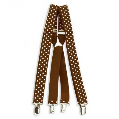 Suspenders - Polka Dots - Brown - BLT-SP003BN