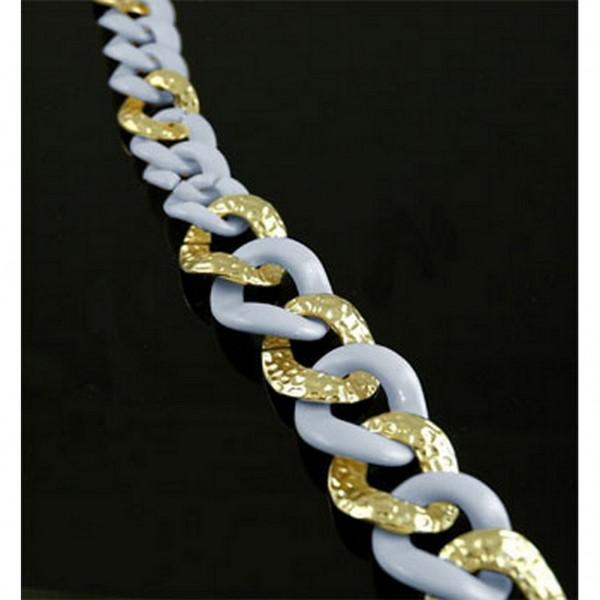 Chain Belt - Two Tone Links - Blue - BLT-T1367BL