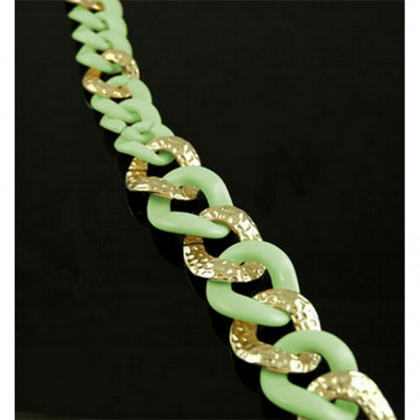 Chain Belt - Two Tone Links - Green - BLT-T1367GN