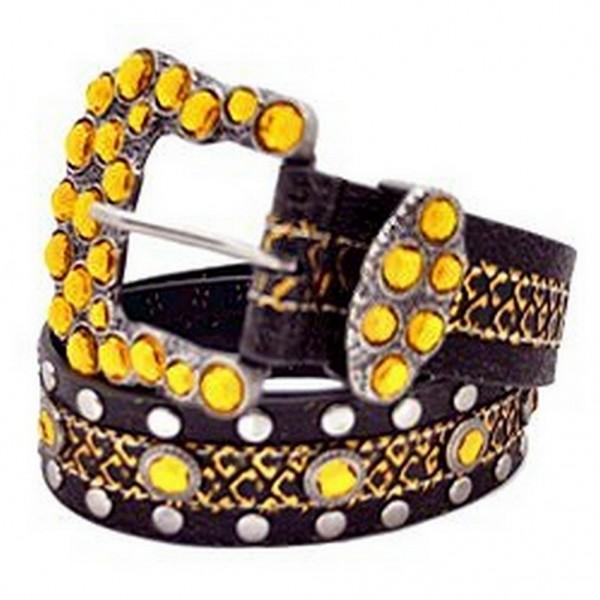 Jeweled & Studded Belt/ Square Buckle - BLT-TO29664