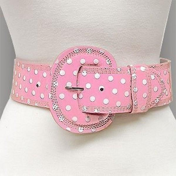 Belt - Polka Dots - Pink - BLT-TO40163PNK-M