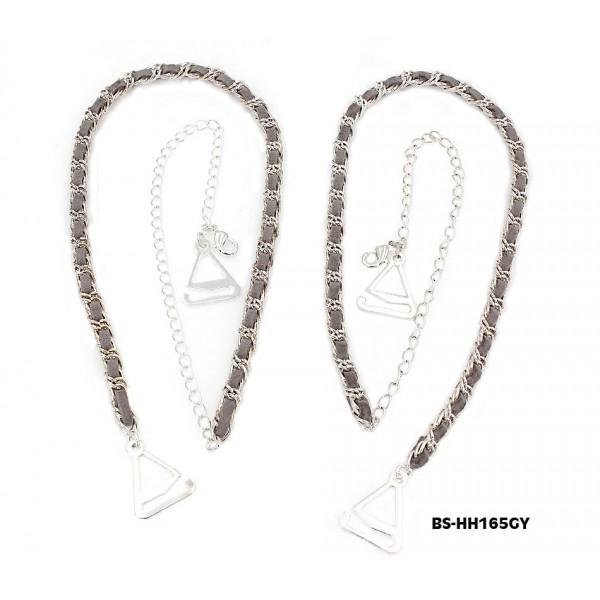 Bra Straps - CNL Style Chain Strap - Grey - BS-HH165GY