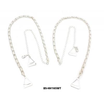 Bra Straps - CNL Style Chain Strap - White -BS-HH165WH