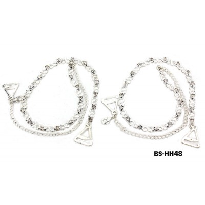 Bra Straps - S Link With Clear Rhinestones - BS-HH48