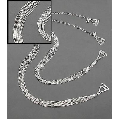 Bra Straps - Multiple Ball Chains - Silver -BS-HH108SL