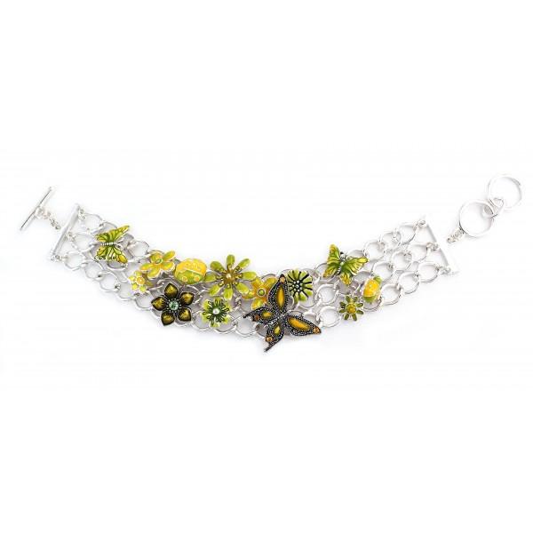 Multi Charm Chain Bracelets - BR-OB00220ASLIM