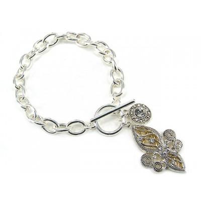 Bracelets - Toggle Closure Fleur De Lis Bracelets