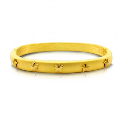 Hinge Bracelet/ Star - BR-1728/GD