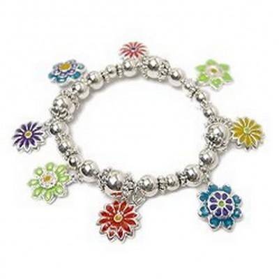 Charm Bracelet/ Flowers - BR-FB865A
