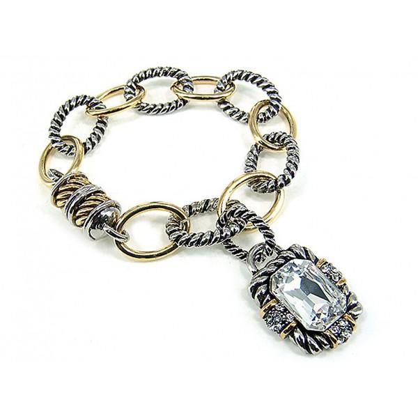 Western Style Bracelets w/ Magnetic Closure - BR-OB02013TTCRY