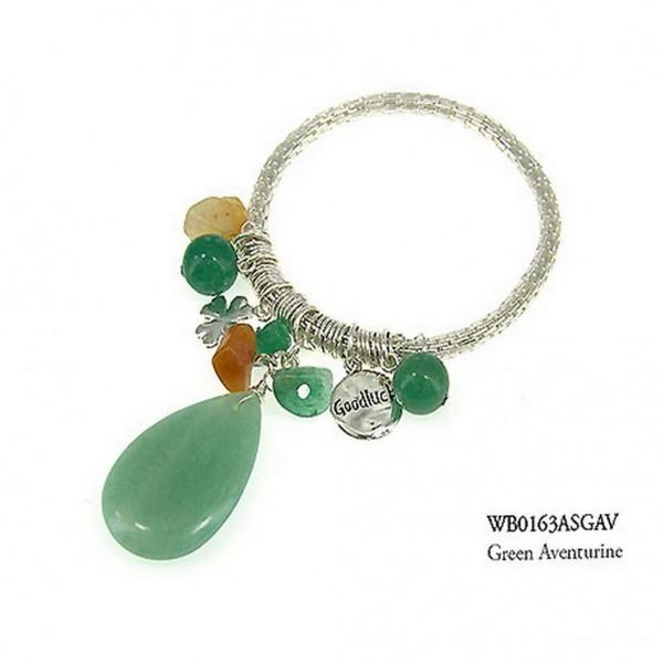 Charm Bracelets - Semi Precious Stone Bracelets - Aventurin Luck - BR-WB0163ASGAV