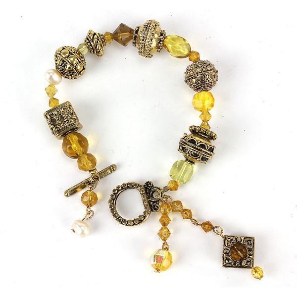 Glass Bead Bracelet - BR-SB50171TP