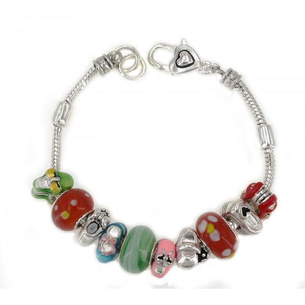 Designer Multi Beaded Bracelets - Baby Shoes - BR-B9355LASML
