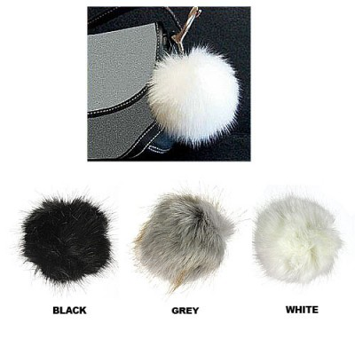 Brooch – Faux Fur Pom-Pom Pin