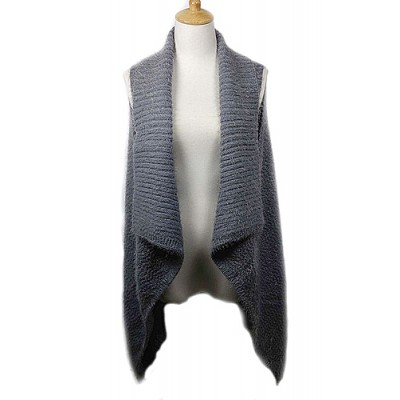 Cardigans & Vests - Knitted Cardigan - Grey - VT-9402-1GY