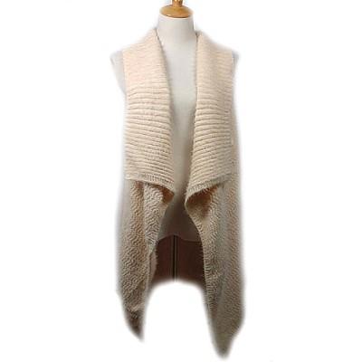 Cardigans & Vests - Knitted Cardigan - Ivory - VT-9402-3IV