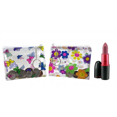 Coin Purse: PVC Pouches - Butterfly/Flower Assorted - 12PCS/PACK - BG-001