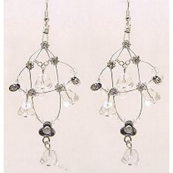 Crystal Earrings  - Clear - ER-576CL
