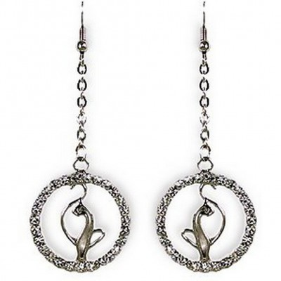 Designer Cat on the Ring Earrings - ER-JER3718CL