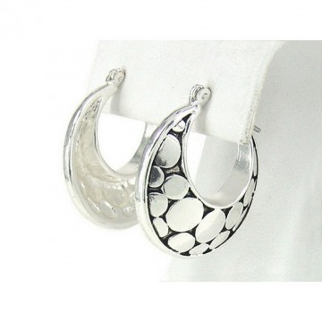12-pair Western Style Texture Crescent Shape Earrings - ER-OE0388AS