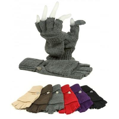 Gloves - Knitted Fingerless Gloves - GL-08KG029