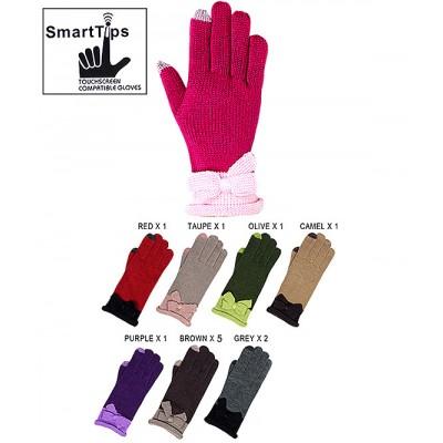 Gloves - Kint SmartTips w/ Bow Gloves - GL-11KG023