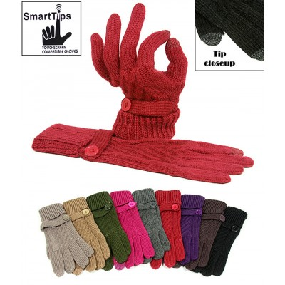 Gloves - SmartTips Gloves Knitted w/ Bottomed Wrist Band - GL-11KG026