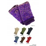 Gloves - Knitted Fingerless w/ DBL Rollup Cuff - GL-CH13