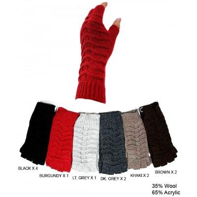 Gloves - Knitted Fingerless - GL-G2122
