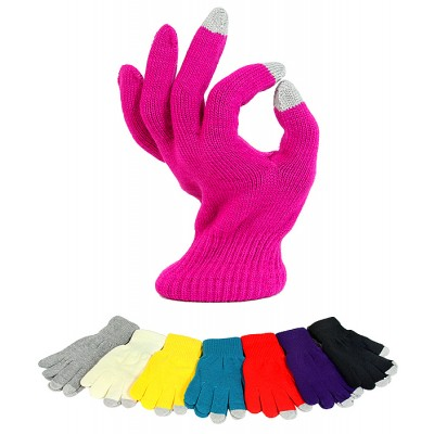 12-pair Assortment Gloves - Solid Color Knitted Smart Tips Gloves- GL-G212S