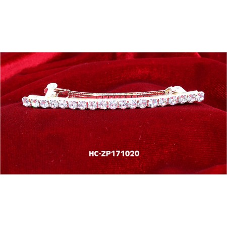 "2.5"" French Clip one-line Crystal Hair Clip - HC-ZP171020"