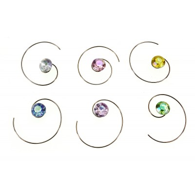 36 pieces Rhinestone Hair Swirl - Assorted Colors - S-LAB24528