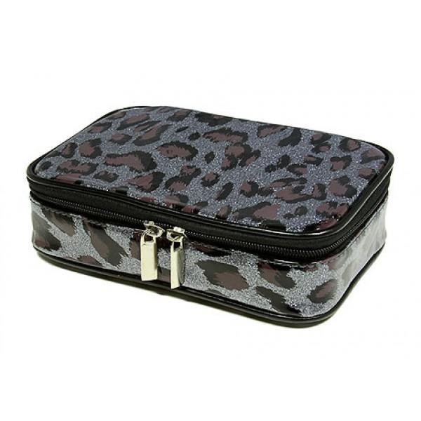 Cosmetic Purse - Pewter Leopard - BG-HM00005P