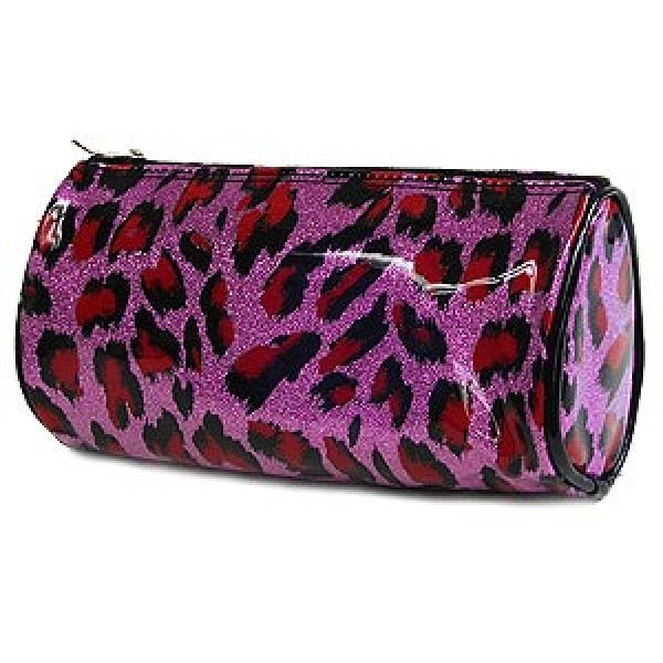 6-pc Set Cosmetic Purse -Purple Leopard - BG-HM00008PU
