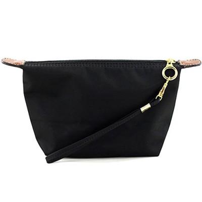 Nylon Cosmetic Bags w/ Wristlet - Black - BG-HM1006BK