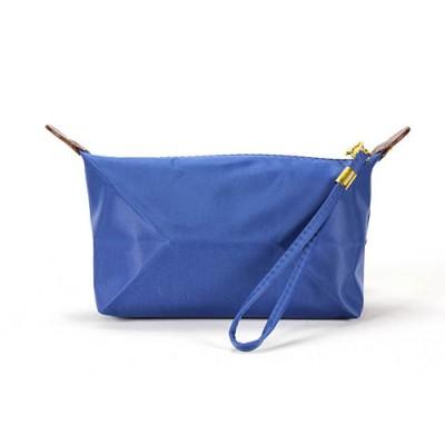 Nylon Cosmetic Bags w/ Wristlet - Blue - BG-HM1006BL