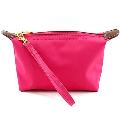 Nylon Cosmetic Bags w/ Wristlet - Fuchsia - BG-HM1006FU